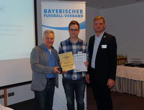 Ehrung des BFV und BLSV für Christoph Gerstl